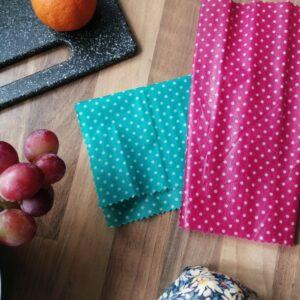 Reusable bees wax wraps